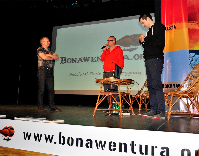 Maciej Wasielewski iMarcin Michalski naFestiwalu Bonawentura, fot.Małgorzata Tomica