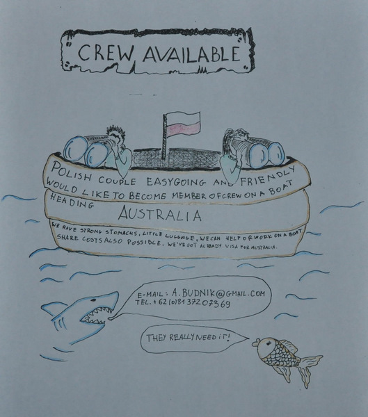 Crew available: Indonesia to Australia