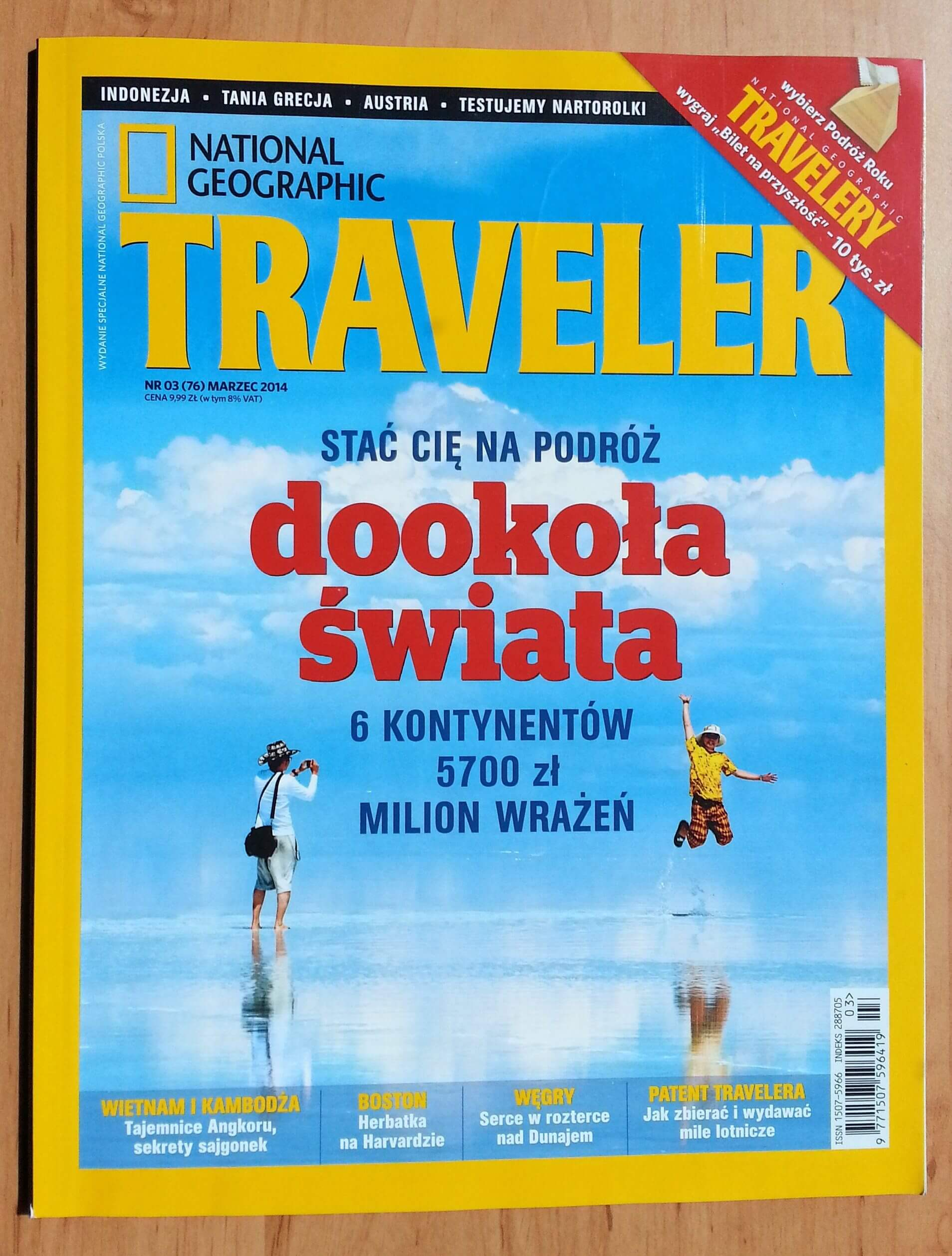 Okładka marcowego NG Travelera.