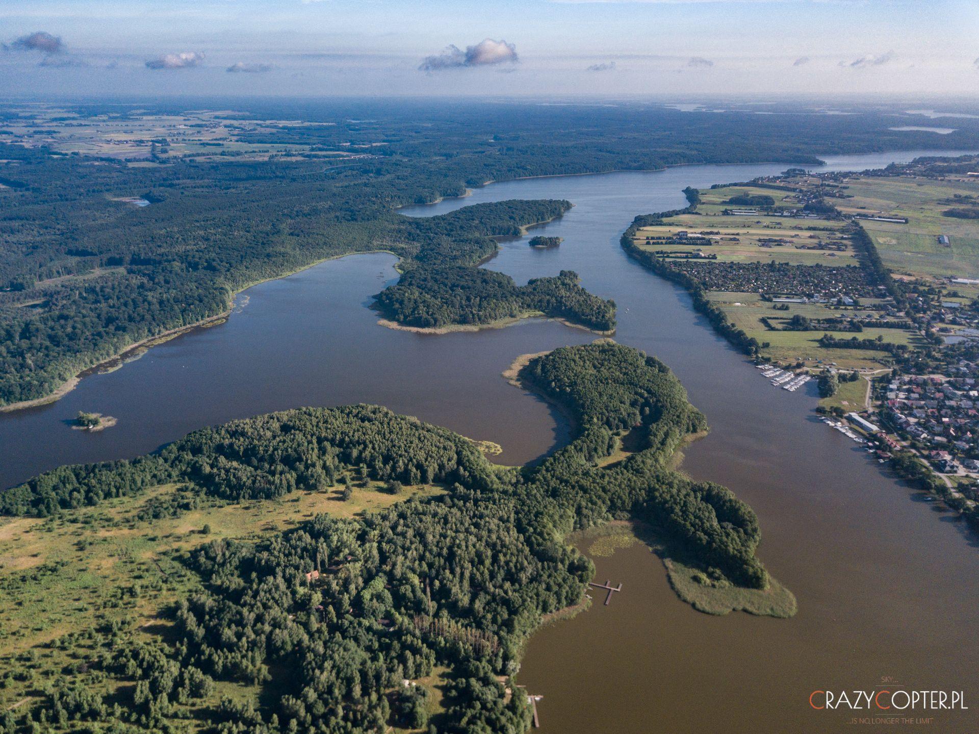 Jezioro Jeziorak fotografowane odstrony Iławy
