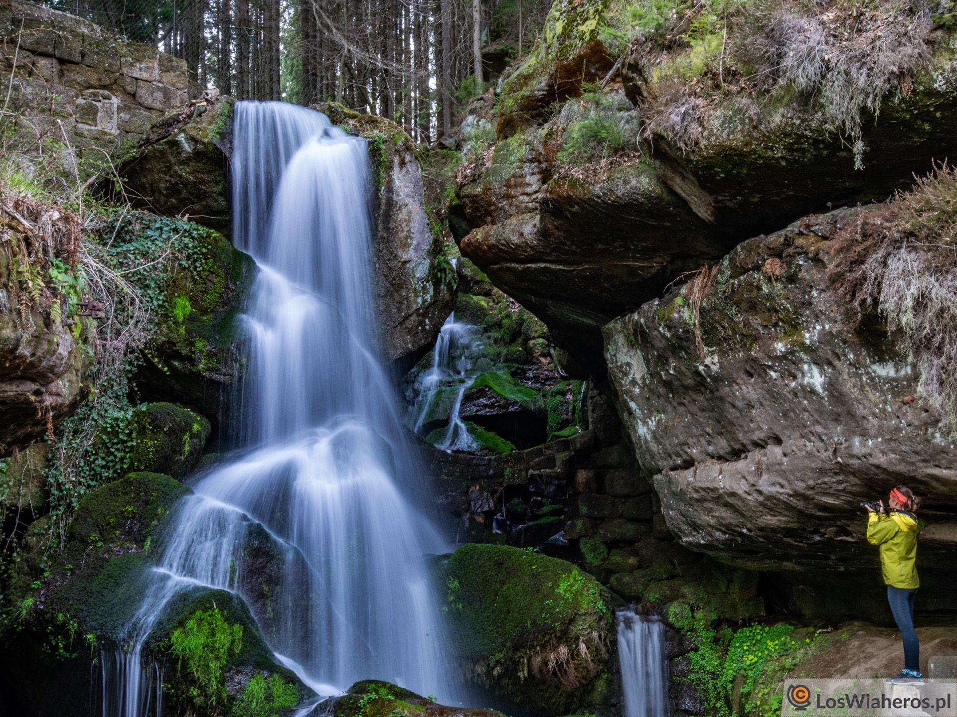 Lichtenhainer Wasserfall - mało znana atrakcja wParku Narodowym, ajednak urokliwa