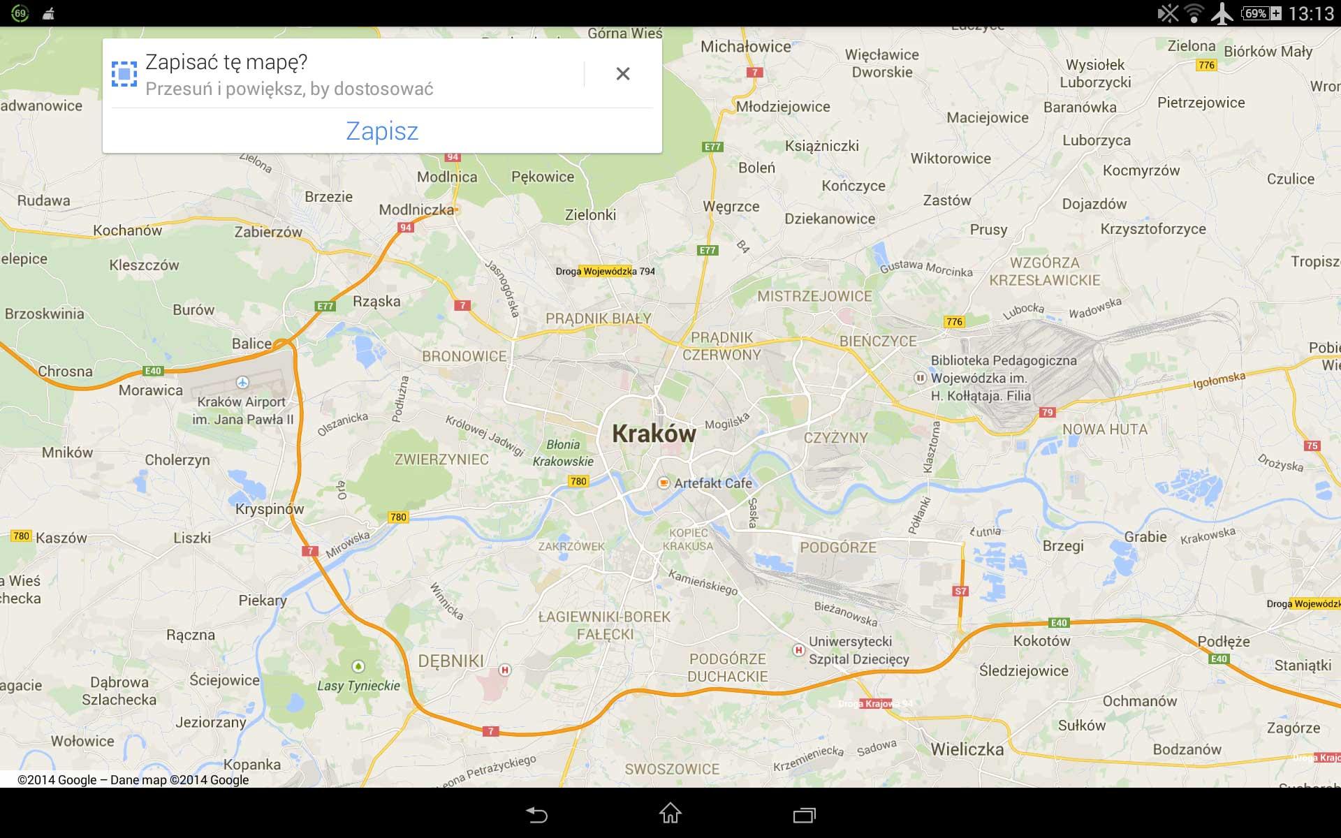 Aplikacja Google Maps w podróży