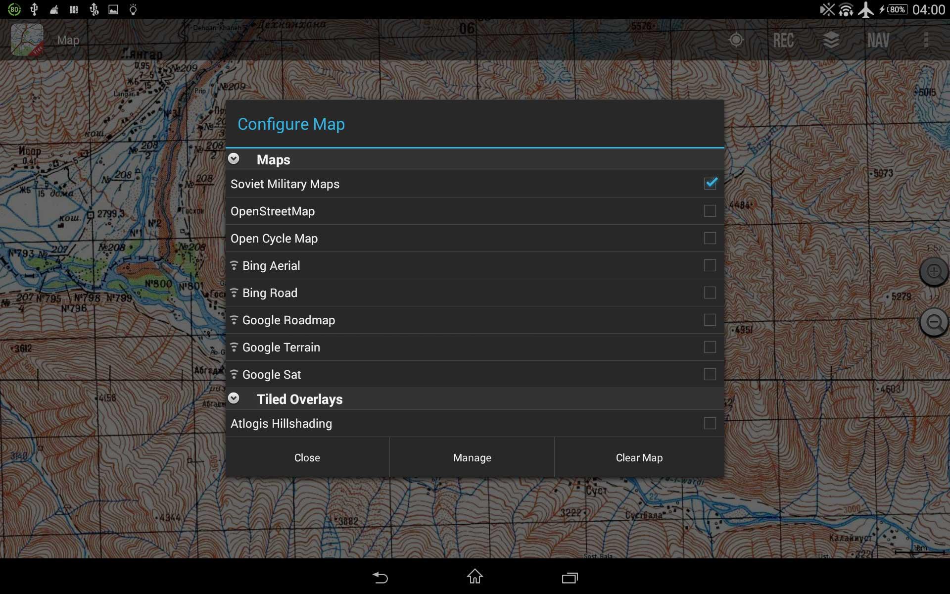Aplikacja Soviet Military Maps