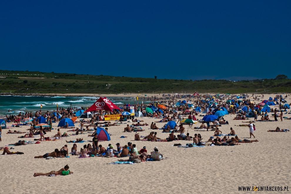 Jedna zplaż wSydney  - Maroubra Beach!
