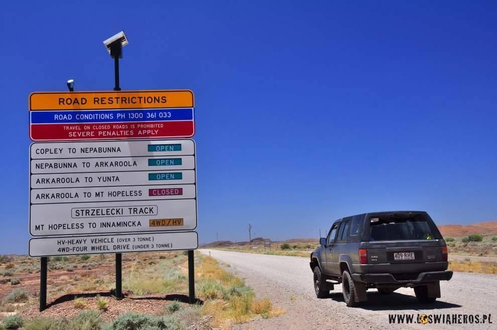 Restrykcje drogowe woutbacku.