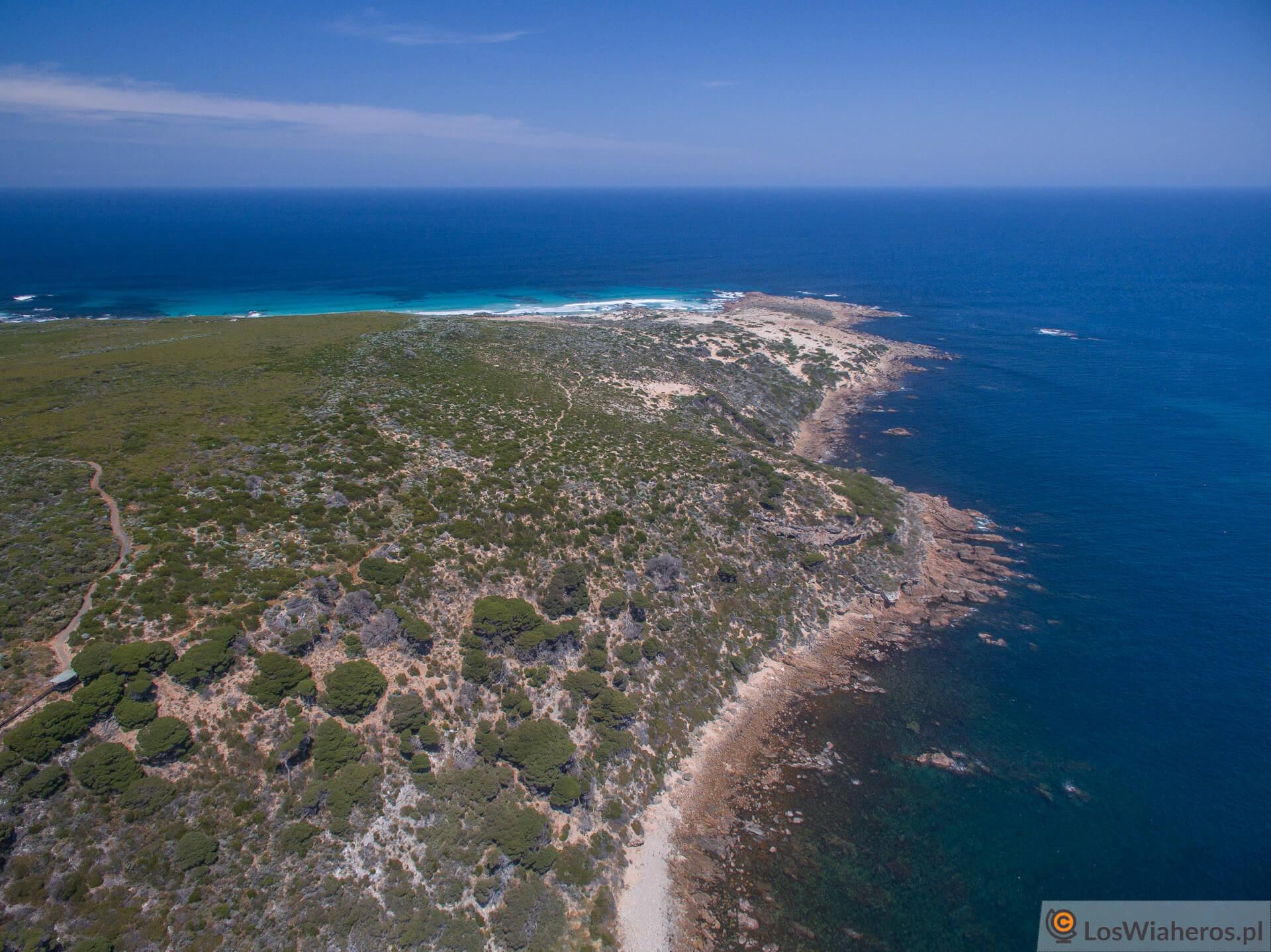 Cape Naturaliste z lotu ptaka.