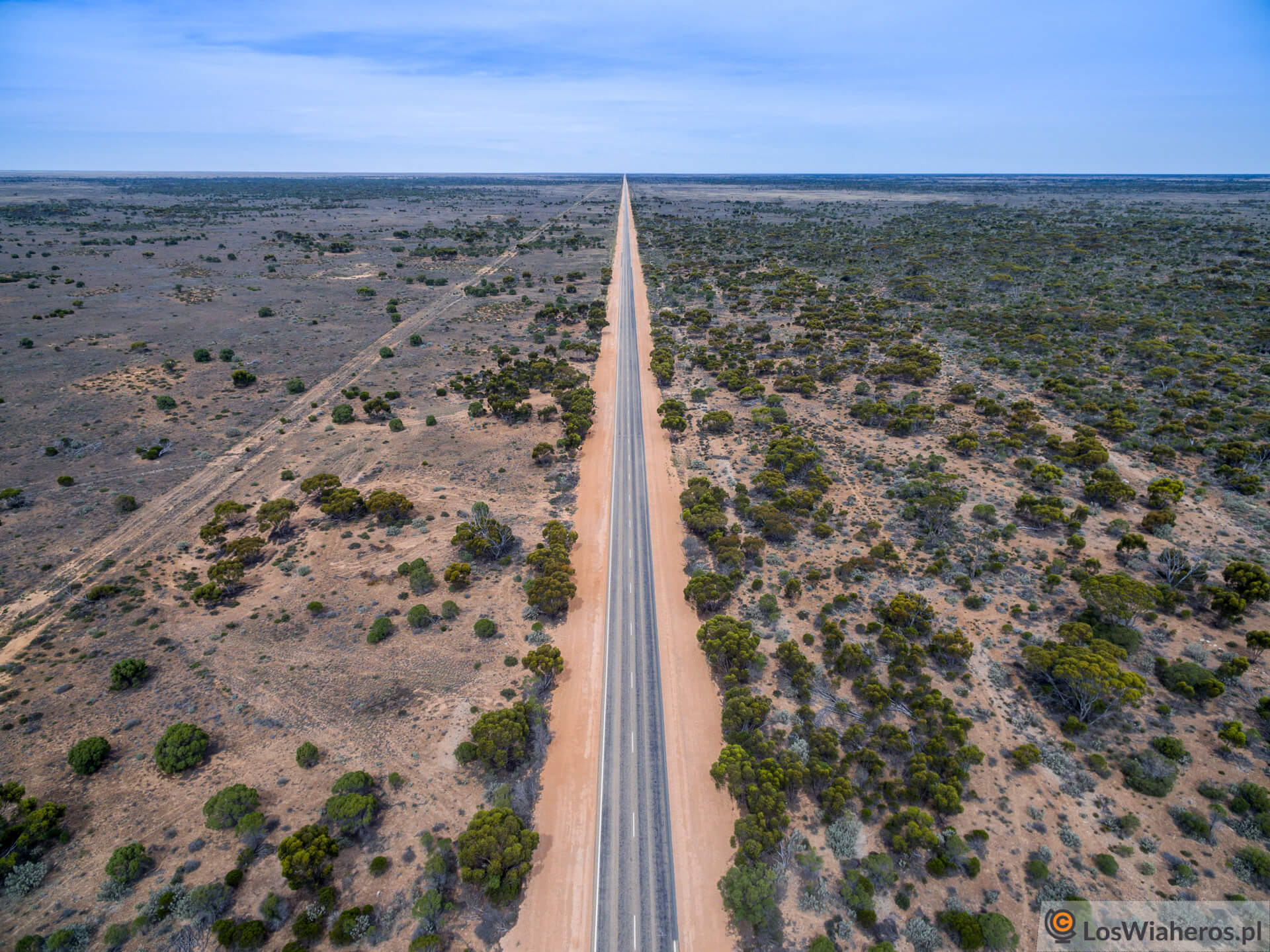 Nullarbor, 146 km bezzakrętu, Western Australia