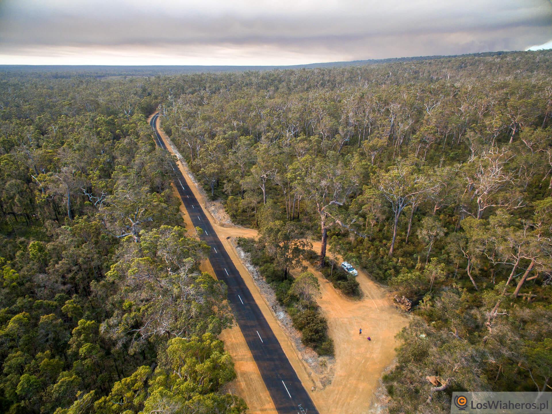 Pożar buszu wAustralii Zachodniej