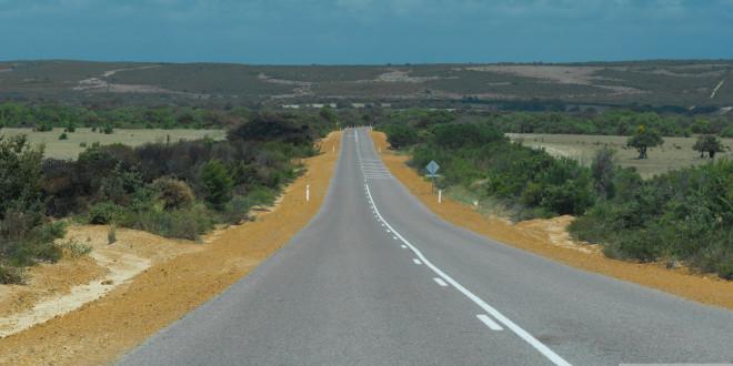 Australia Zachodnia z poziomu drogi stanowej.