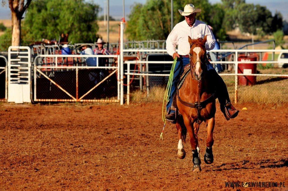 Prezentacja uczestników rodeo.