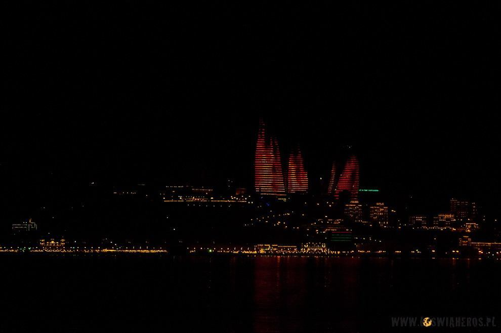 Tower flames in Baku.