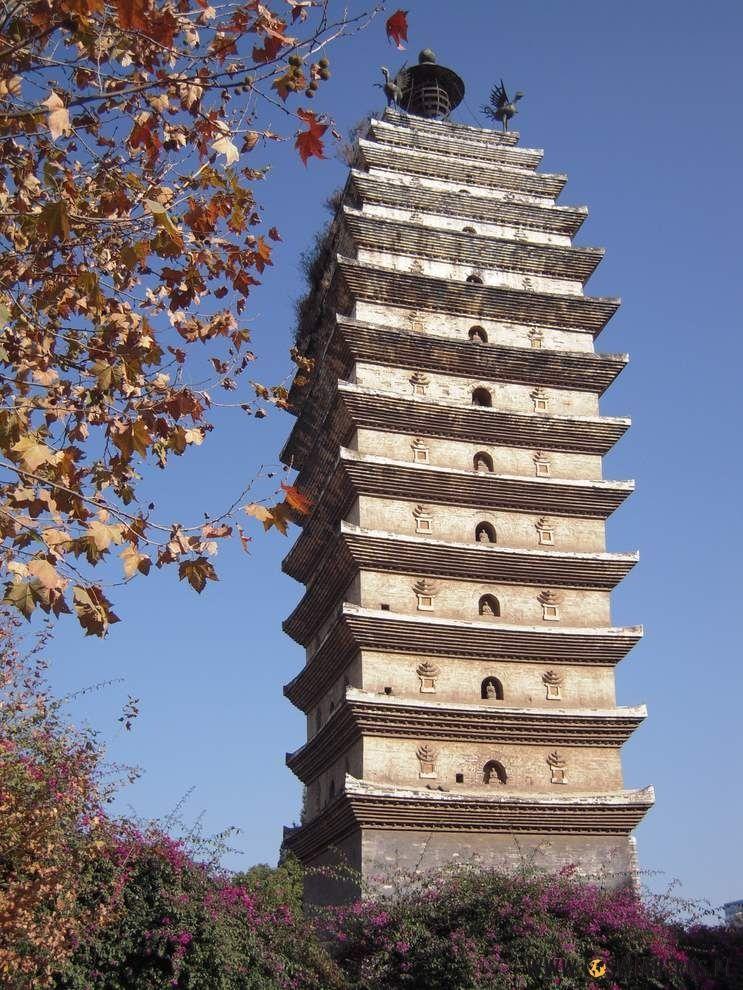 Pagoda nieopodal centrum Kunmingu.