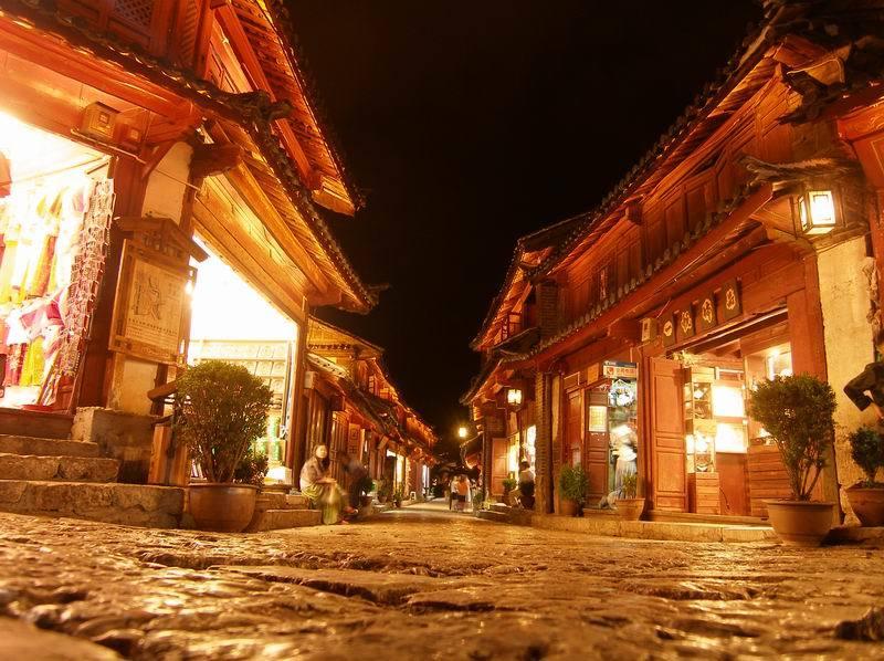 Starówka zabytkowego miasteczka Lijiang.