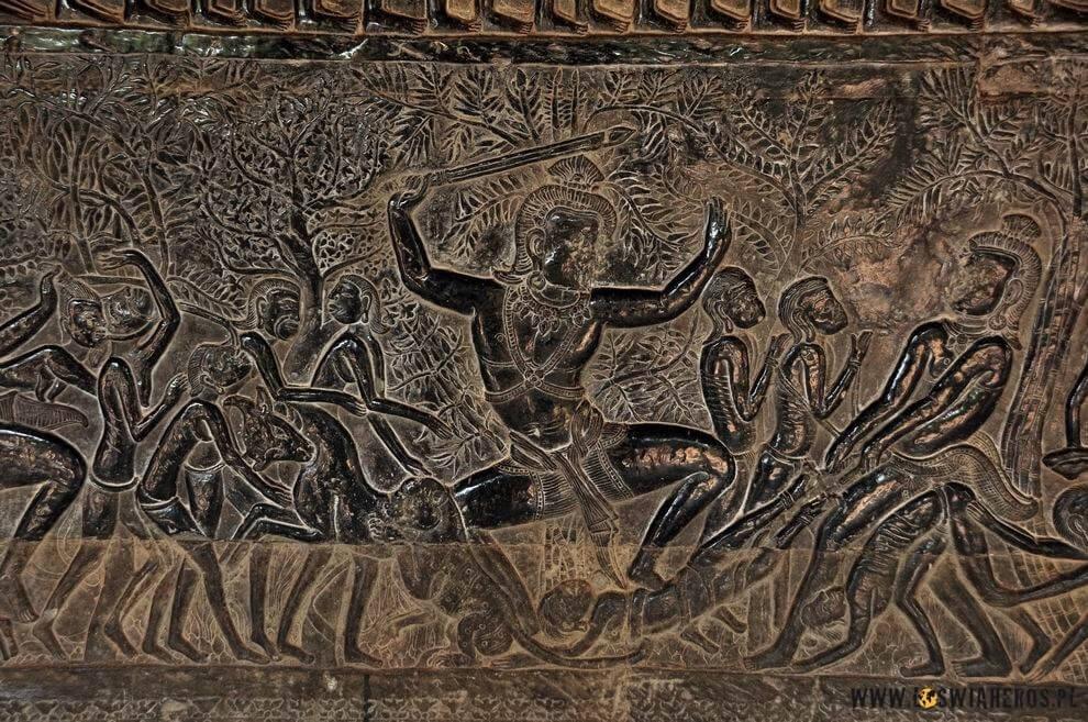 Detale jednej zeświątyń.