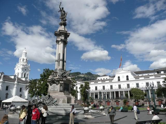 Plaza de Armas wQuito.