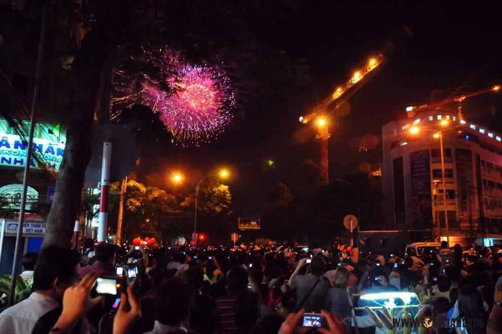 Fajerwerki zokazji Nowego Roku Tygrysa, Saigon 2010