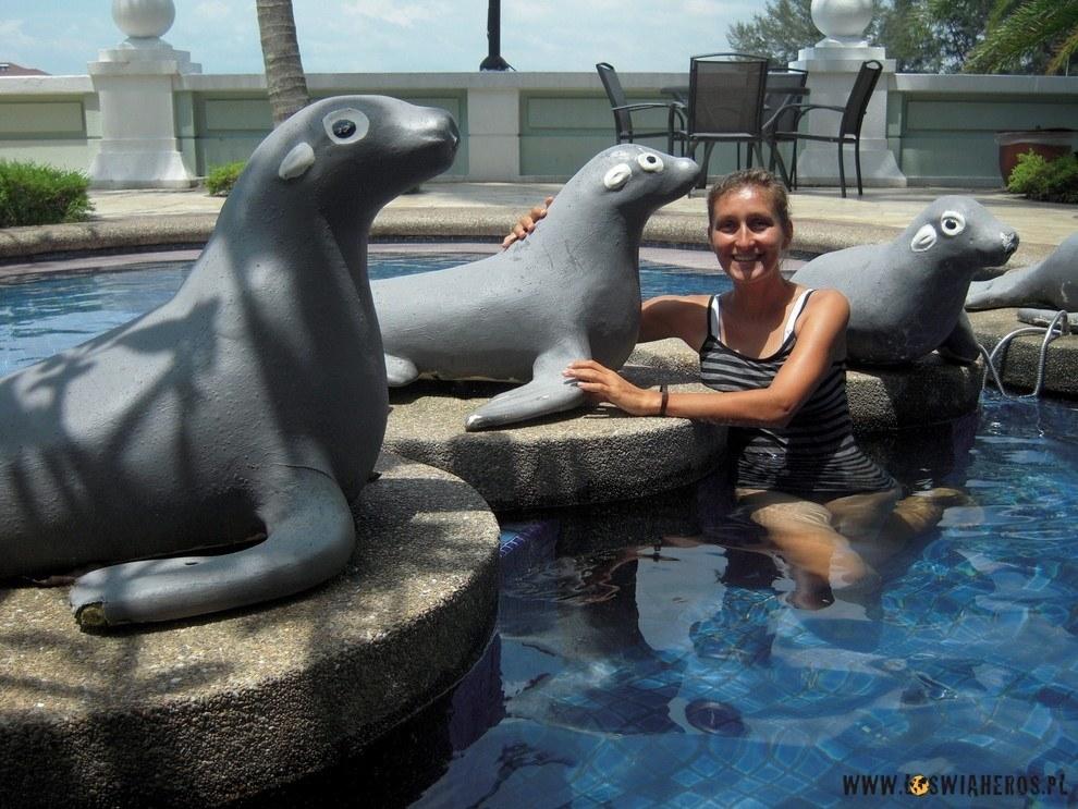 Fotki cztery, czyli wkąpiele wmarinie, Port Dickson.