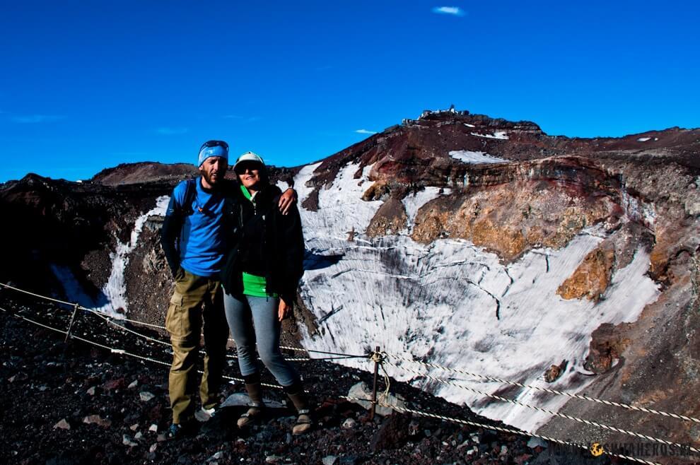 Krater wulkanu Fuji .