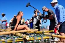 Wywiady, autografy. W końcu nie codziennie zajmuje się drugie miejsce w regatach :)