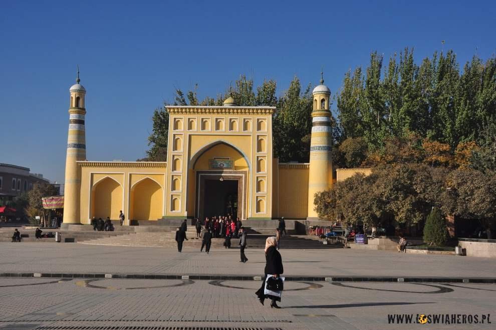 Meczet w centrum Kaszgaru.