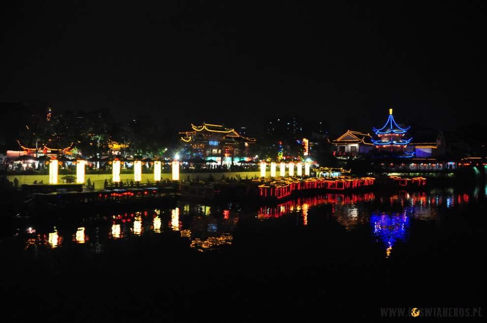 Stare miasto - Nanjing nocą.