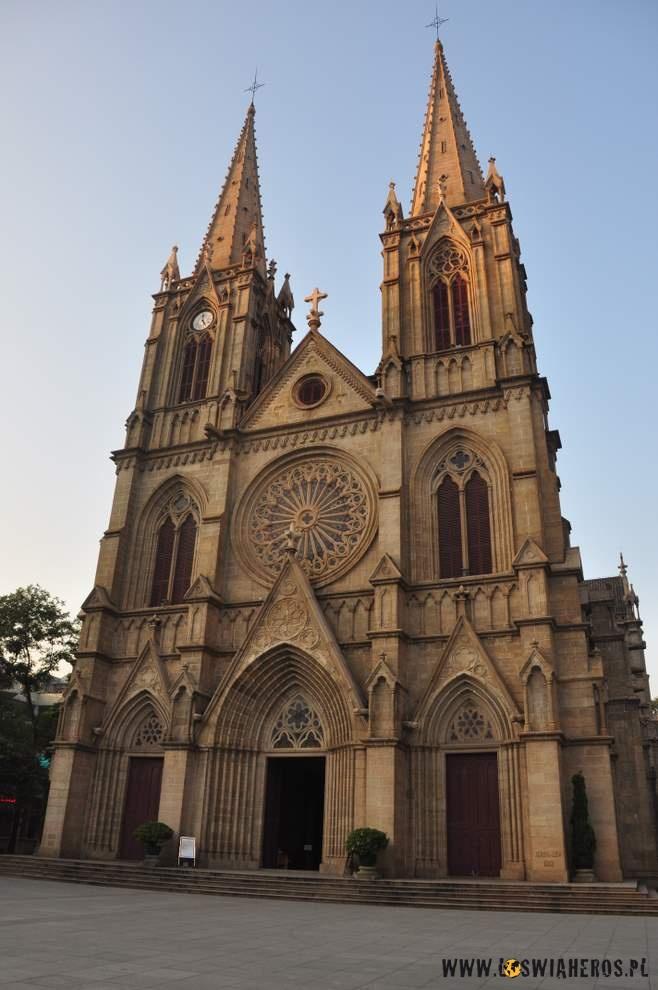 Neogotycka katedra wKantonie.