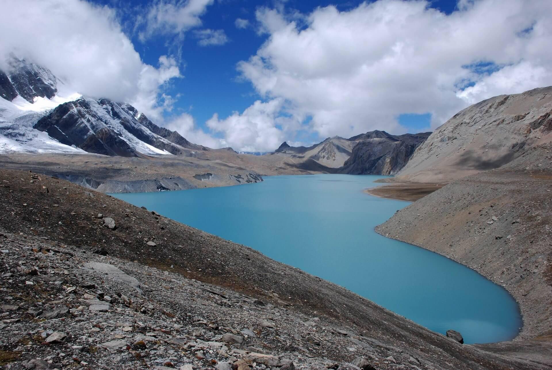 Tilichu Lake tuż obok głównego szlaku wokół Annapurny!