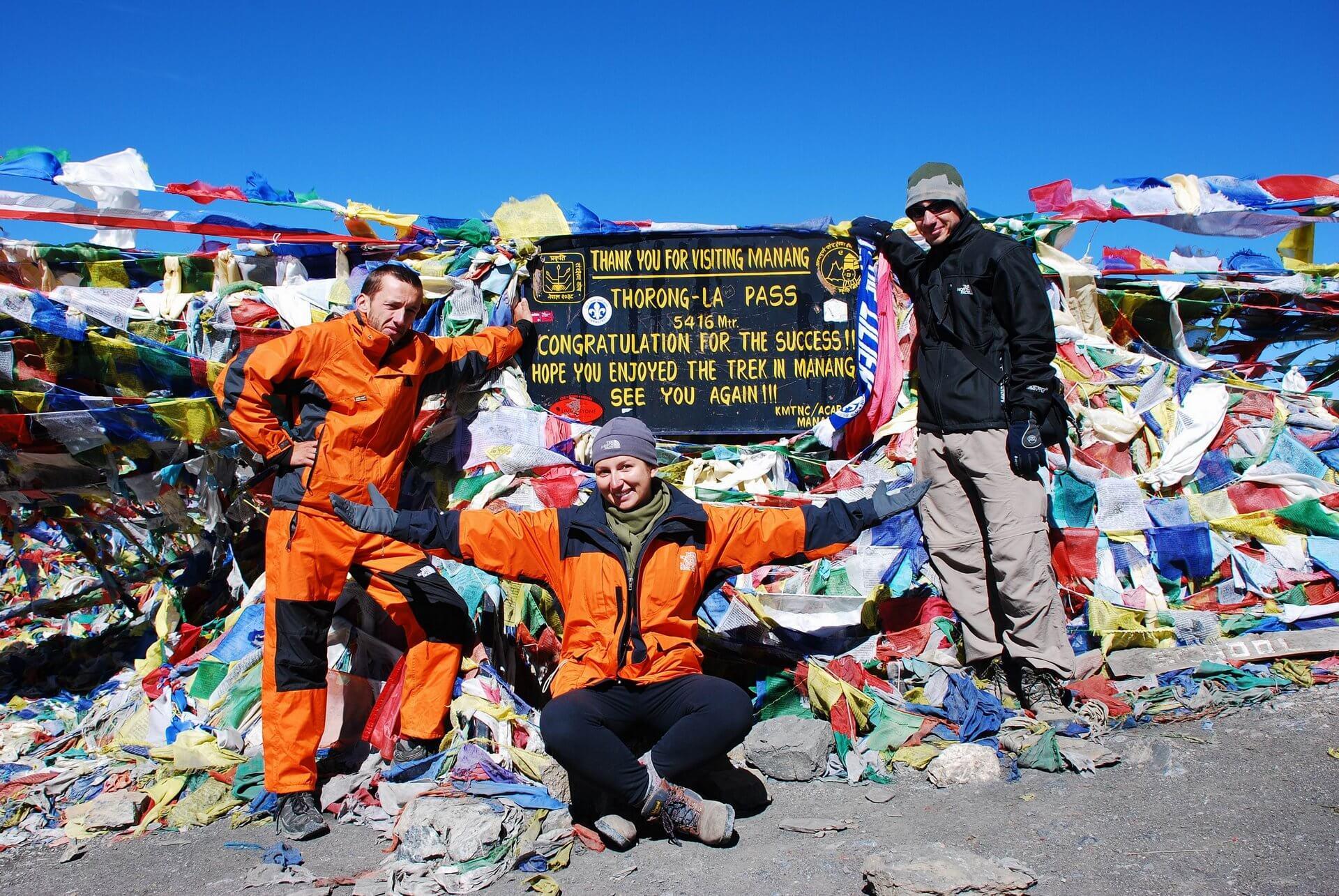 Na szczycie Przełęczy Thorung La.