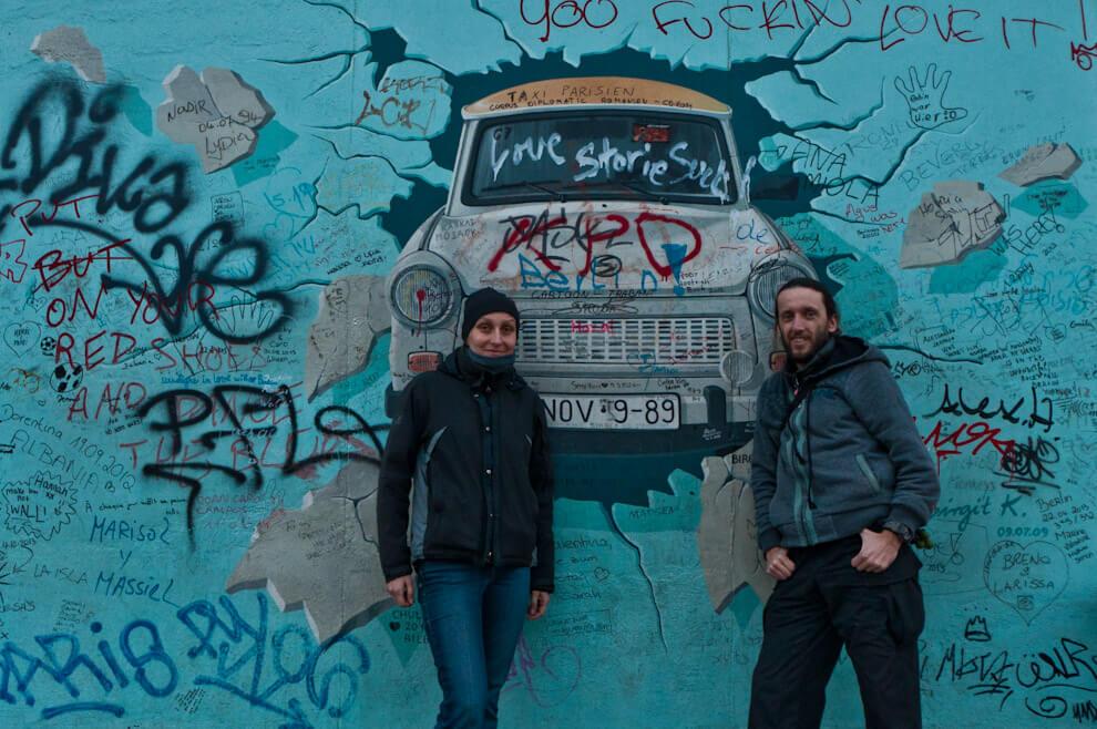 Trabant - graffiti na Murze Berlińskim.