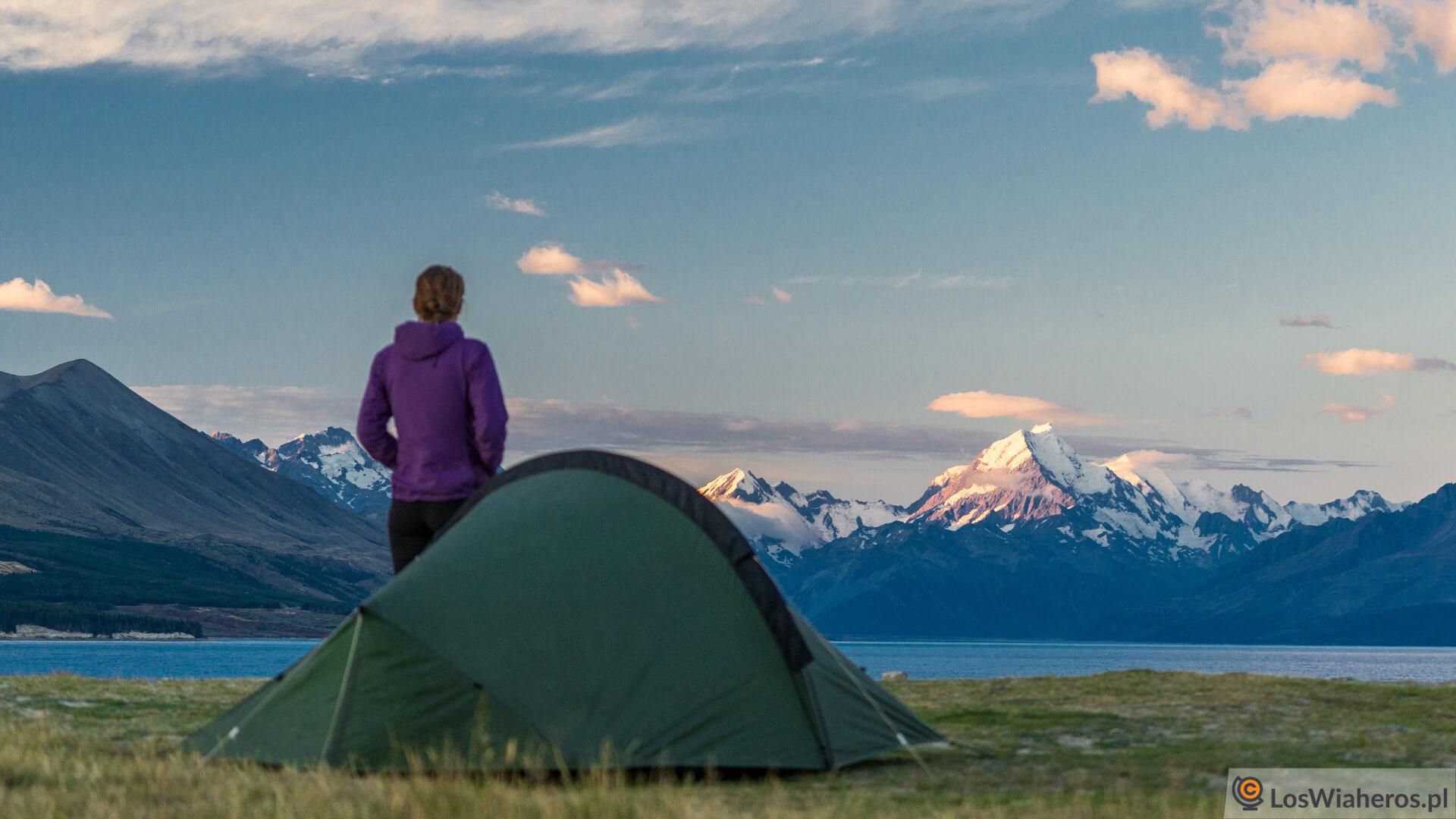 Wymarzony koniec dnia i taki widok z namiotu!