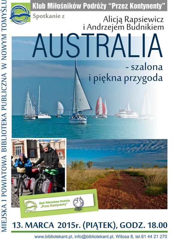 """""""Australia - szalona i piękna przygoda"""" w Nowym Tomyślu @ Miejska i Powiatowa Biblioteka Publiczna"""
