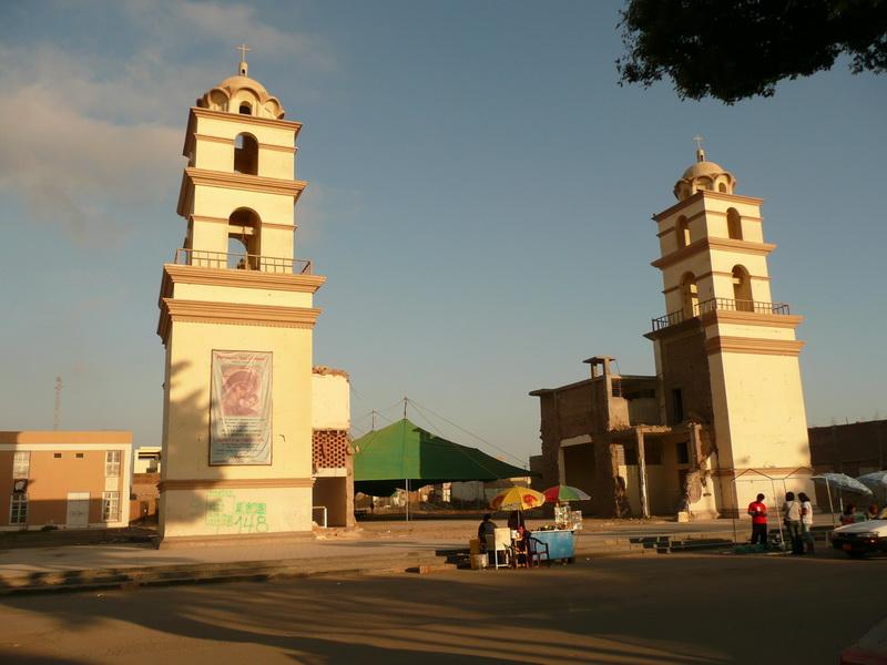 Katedra, poktórejzostały tylkodwie wieże.