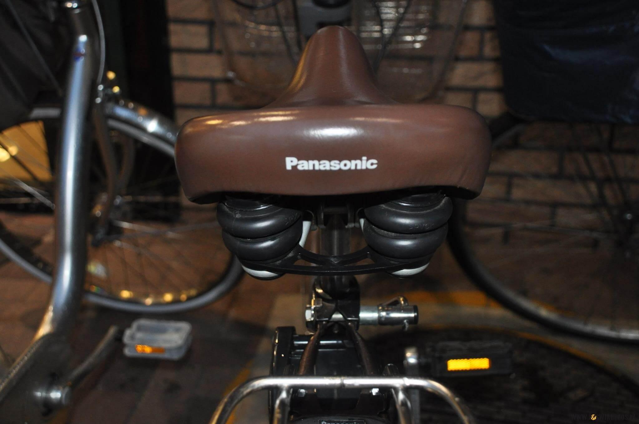 Pomyślałby kto! Siodełko marki Panasonic?