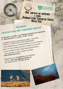 """""""Spitsbergen - arktyczna kraina lodu iniedźwiedzi polarnych"""" wKrakowie @ Aula główna WSE"""