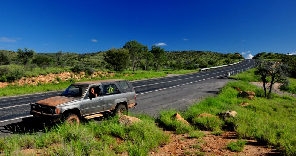 Stuart Highway liczy sobie prawie 3000 kilometrów