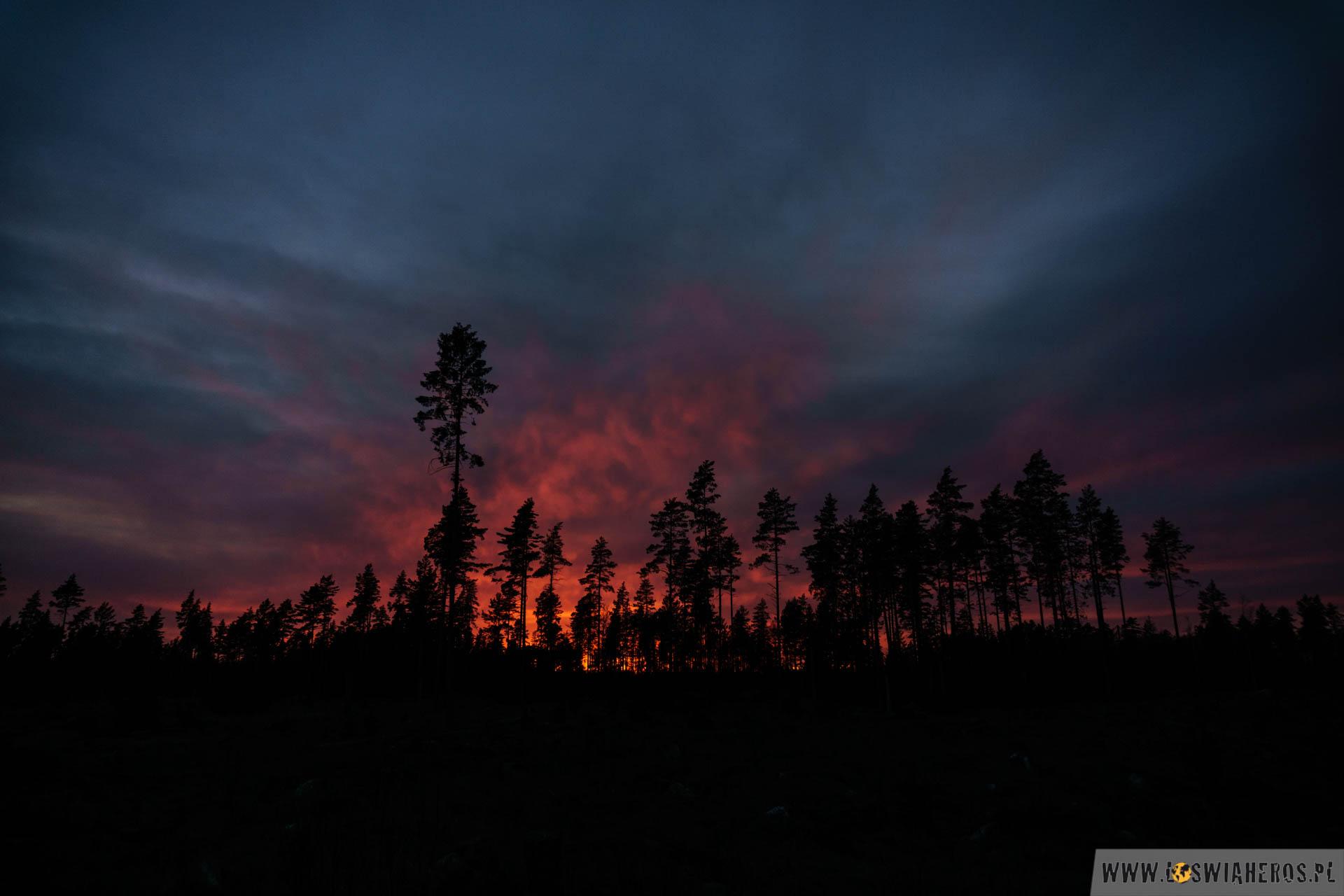 Zachód słońca tuż przed Forsmark.
