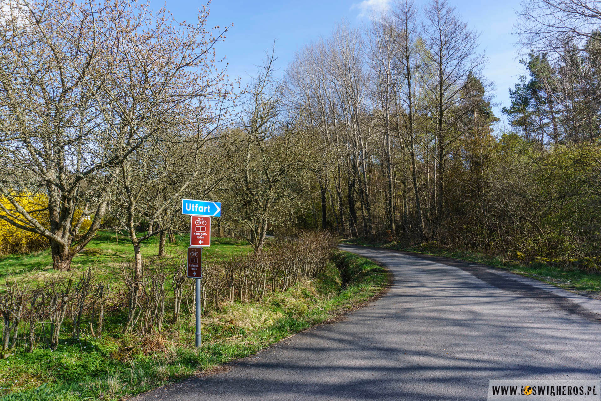 Ginstleden, czyli trasa rowerowa między Goteborgiem a Malmo
