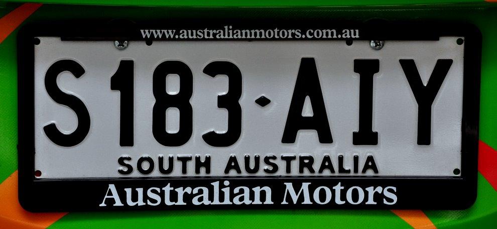 Tablice rejestracyjne z Australii Południowej.