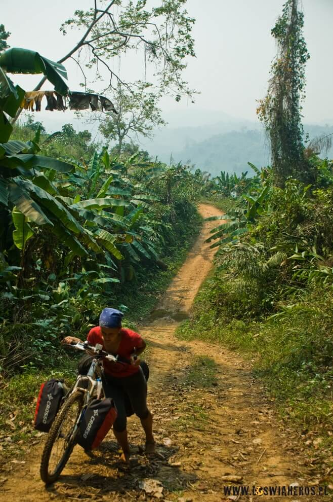 U wrót laotańskiej dżungli wZłotym Trójkącie.