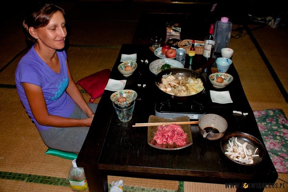 Obiad wstylu japońskim.