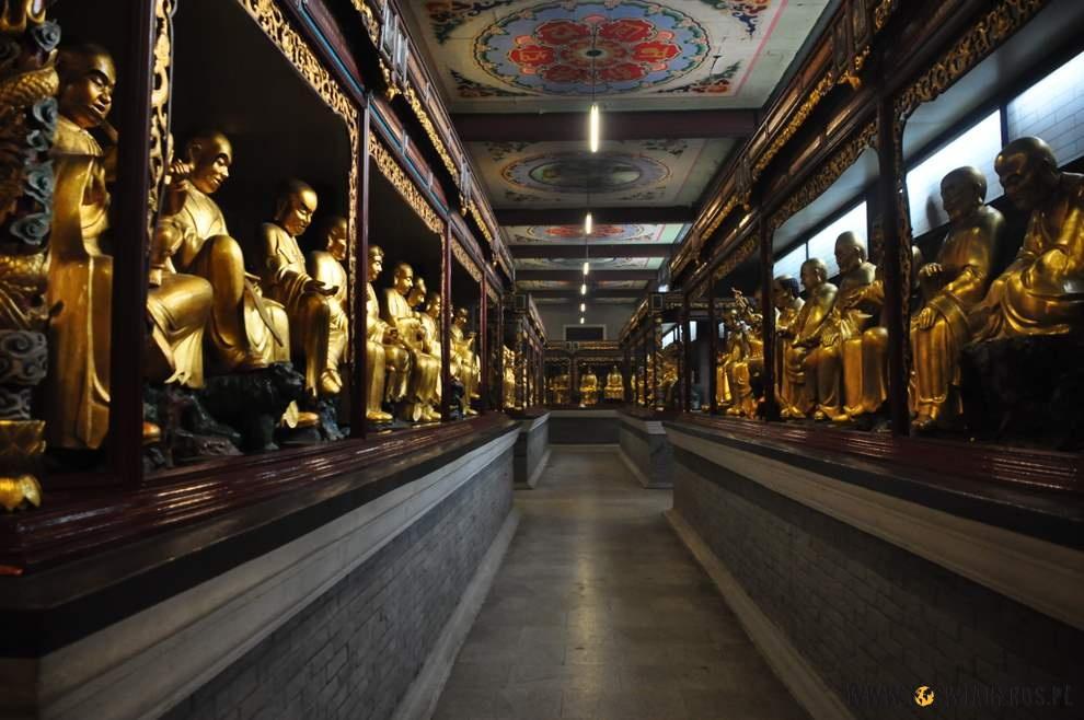 Świątynia 400 Buddów - najfajniejsza wChinach wschodnich.