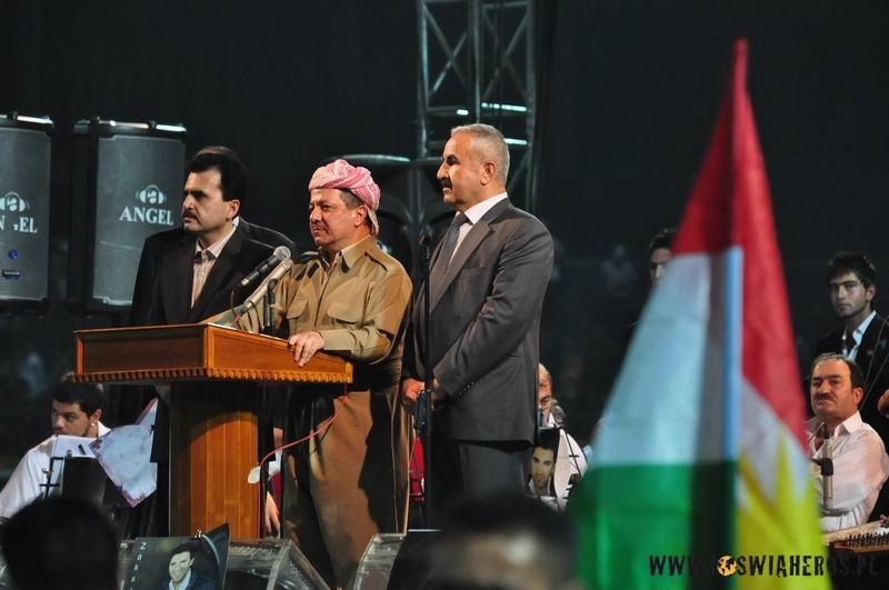 Wiec wyborczy nastadionie wstolicy Kurdystanu - 50 tys. osób