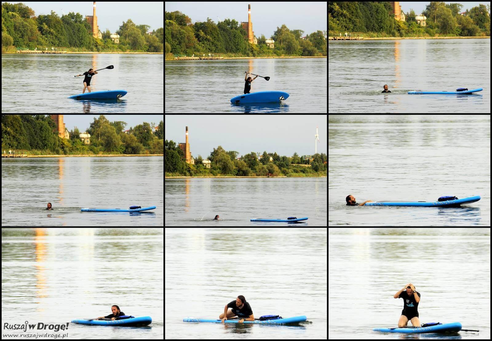 Stand Up Paddle - jakoś trzeba było prowokować tę mało dynamiczną dyscyplinę! fot. www.ruszajwdroge.pl