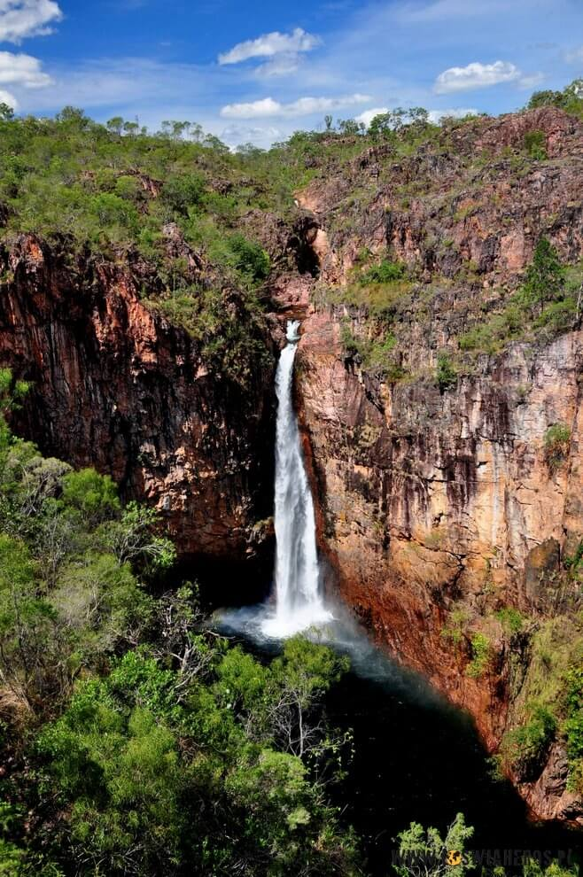 Wodospady Australii Północnej.
