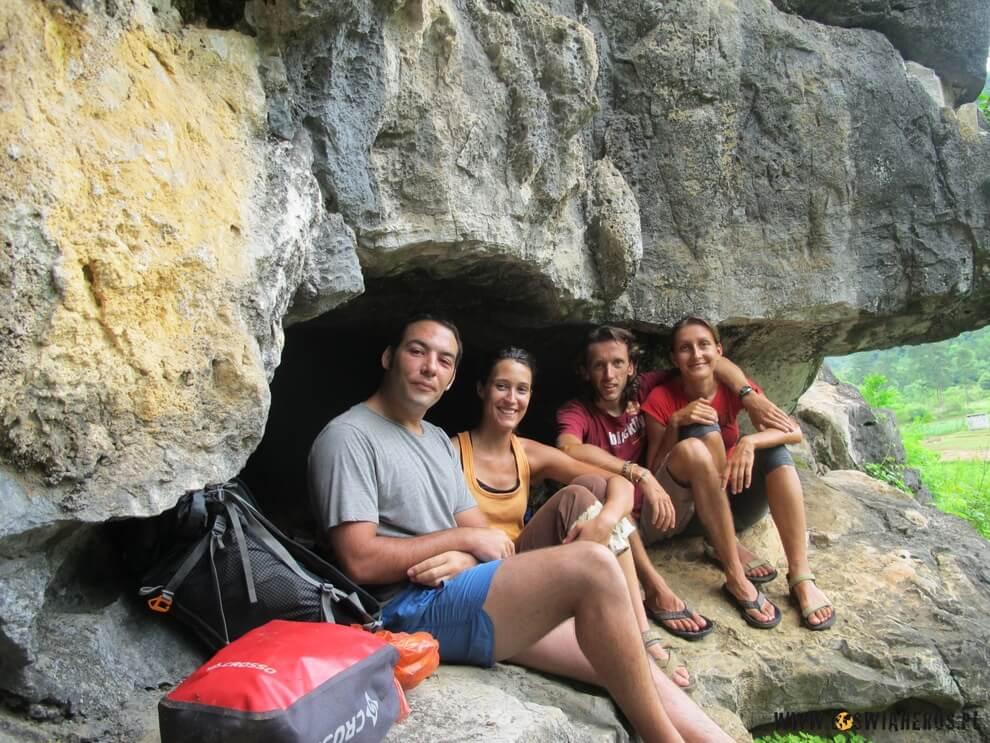 Lluis, Muriel, Andrzej iAlicja wYangshuo, Chiny