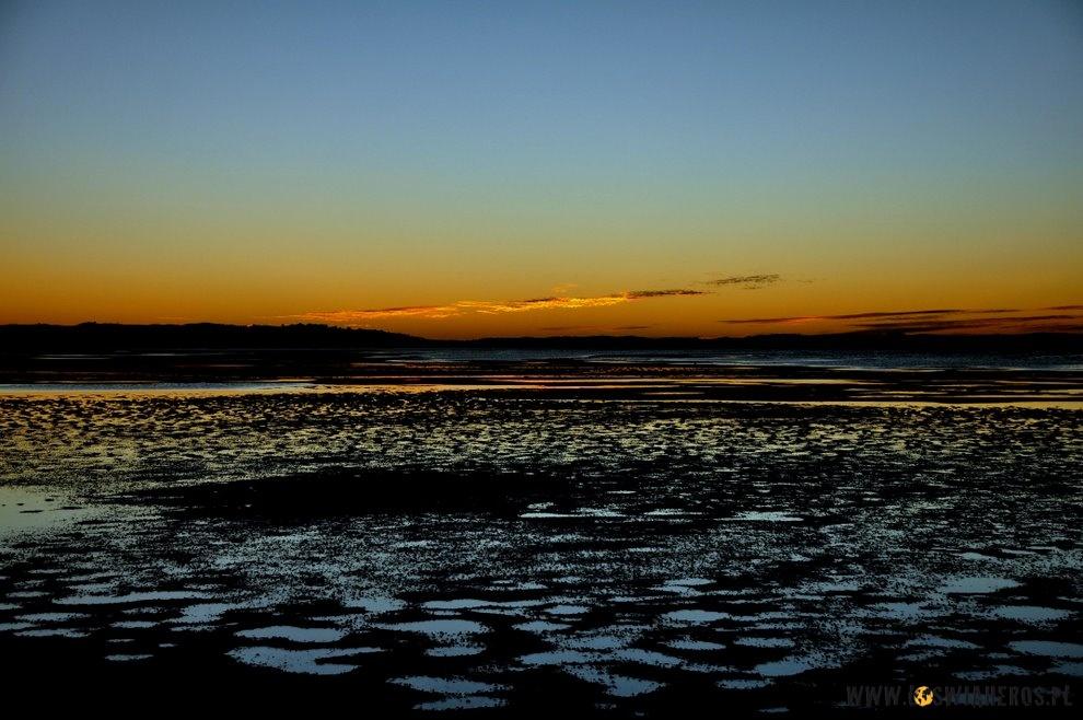 Zachód słońca wCoffin Bay