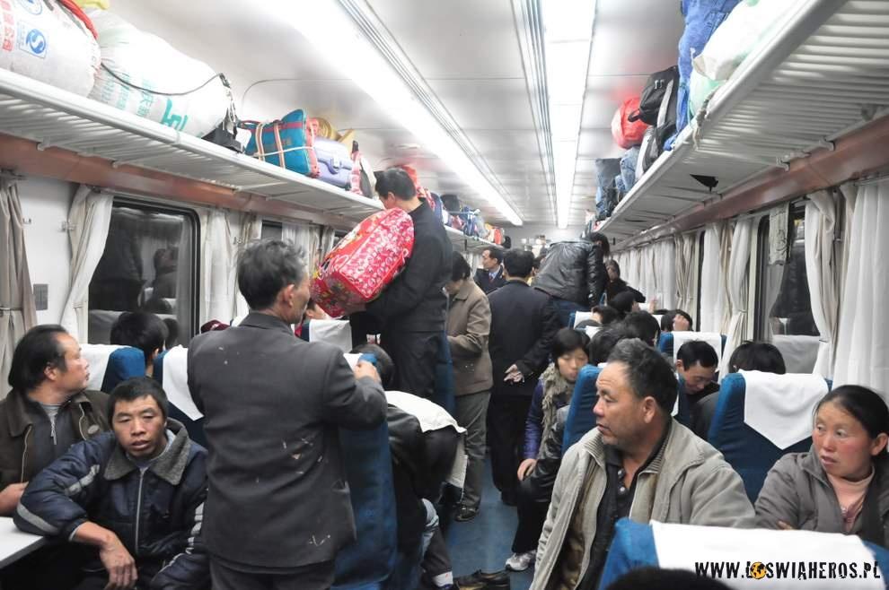 W chińskim pociągu...